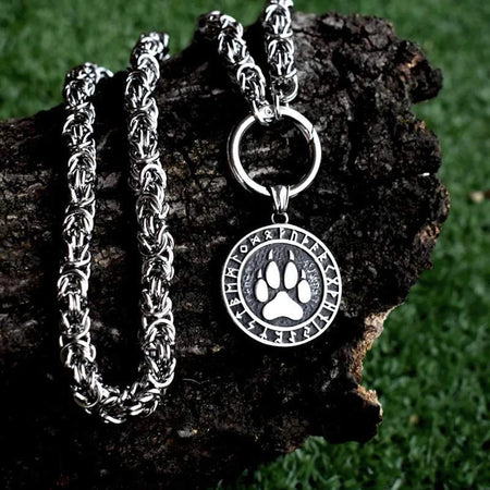 wolf paw print necklace