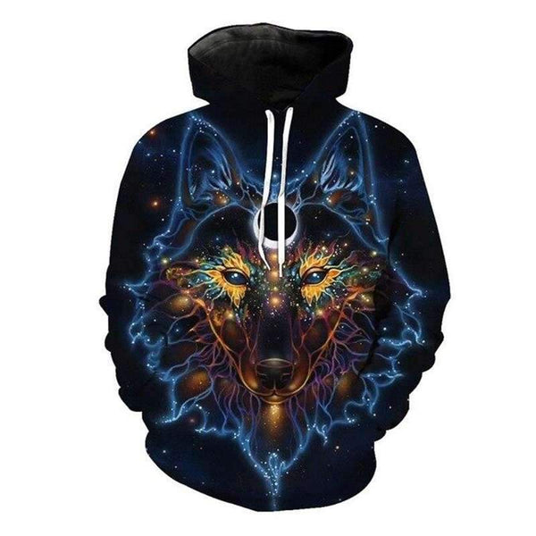 wolf psychedelic hoodie