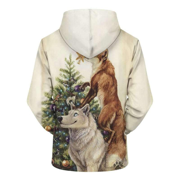 wolf sweatshirt christmas