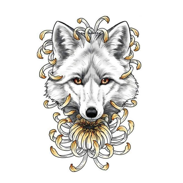 wolf tattoo drawing