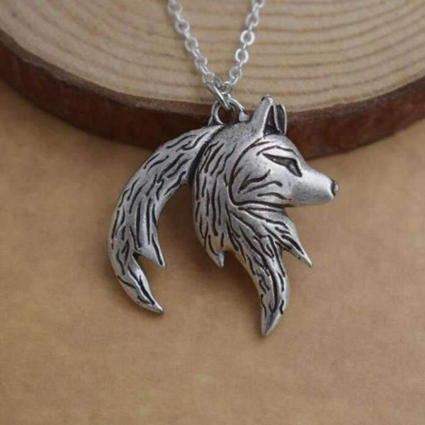 Yin Yang Tattoo Dark Skin: Wolf Yin Yang Necklace