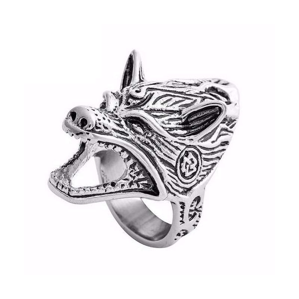 wolf bottle opener ring