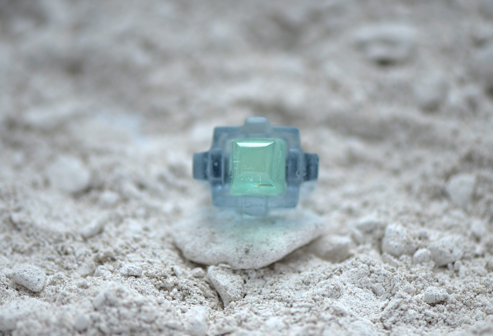 Cabochon Molded Glass Ring