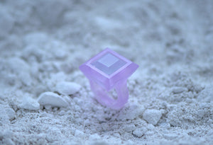 Glass Casting Square Ring