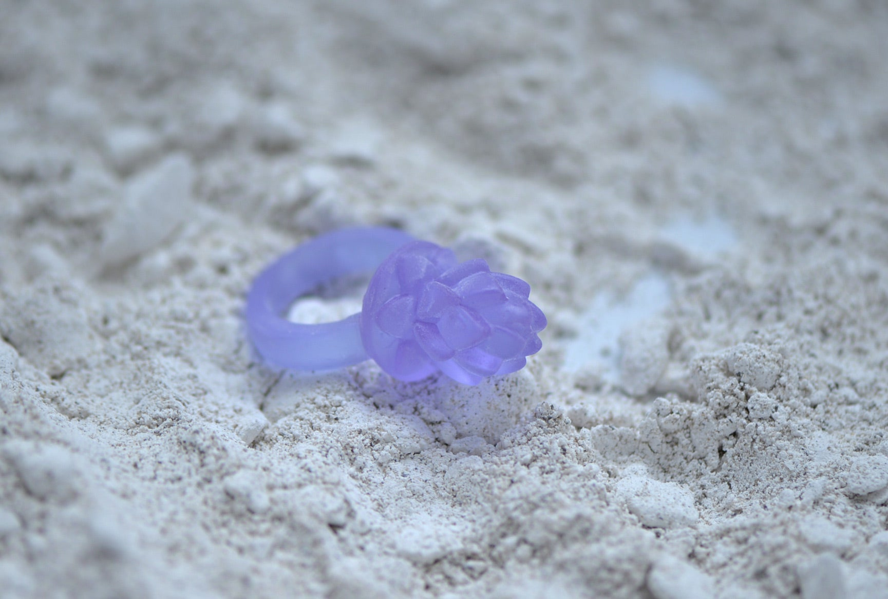 Glass Casting Lotus design Ring