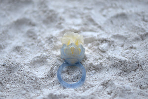 Glass Casting Ring with a Rose