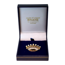 Afbeelding in Gallery-weergave laden, Gouden Crown Parel Diamant Broche