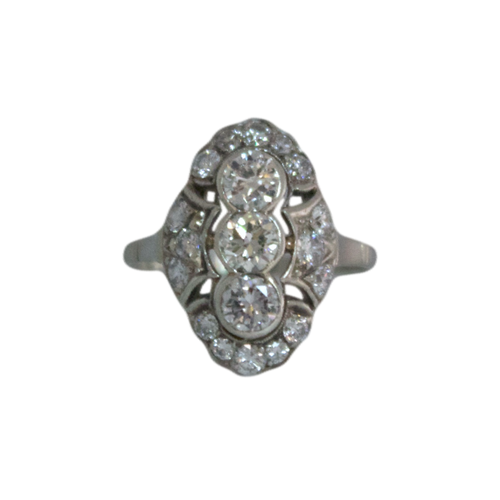 Witgouden Princes Ring