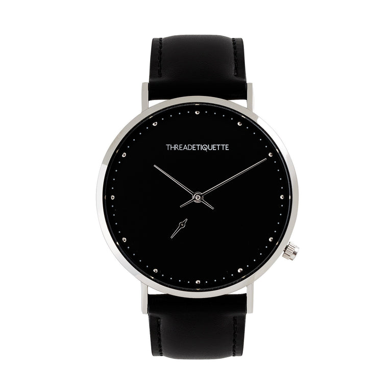 wrist watches mens watch men s silver coolest face sale big with black