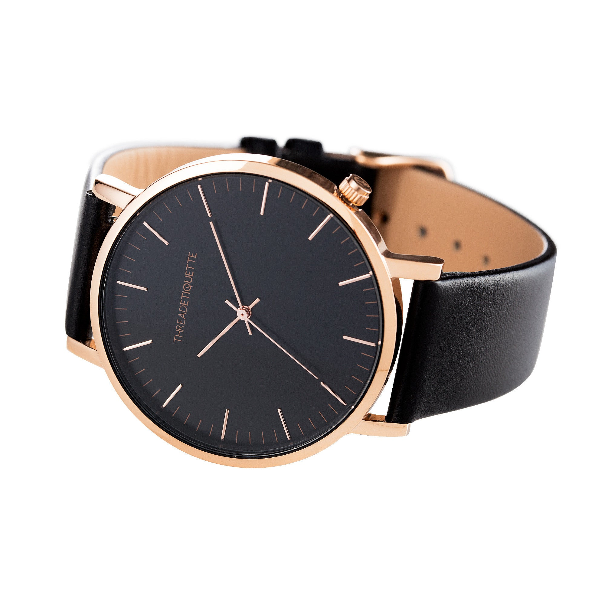 free overstock leather over timex women watches watch on product strap s easy reader shipping black womens jewelry orders