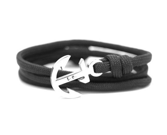 LUXURY – BLACK ANCHOR BRACELET