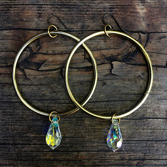 Big Energy Hoops (22mm crystals)
