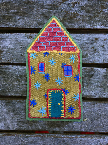 Hand-Stitched House Patch