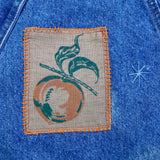 Vintage Denim Jacket w/ hand embellishments