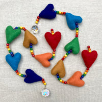 Rainbow Heart Hanger