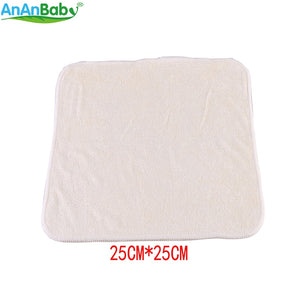 20pcs 100% Bamboo Breathable Super-Soft Wipes, Reusable Baby Wipes Size 25cm x 25cm