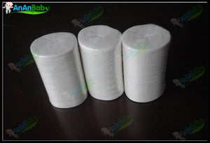 3 Rolls 100 Sheets Per Roll Biodegradable Viscose Flush Liners For Cloth Diapers