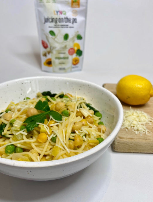 Lemon One-Pot Pasta with LYNQ Empowdered