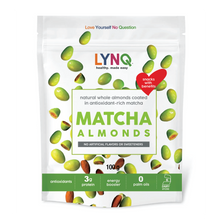 Load image into Gallery viewer, LYNQ matcha covered almonds- healthy snack
