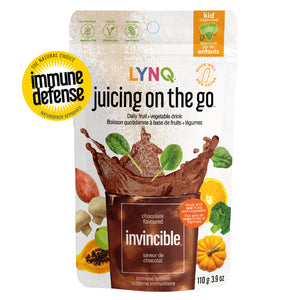 Lynq Invincible Fruit and Vegetable Powder for Immune Boosting, Chocolate Flavor