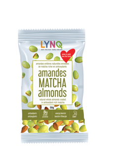 Matcha-Covered Almonds