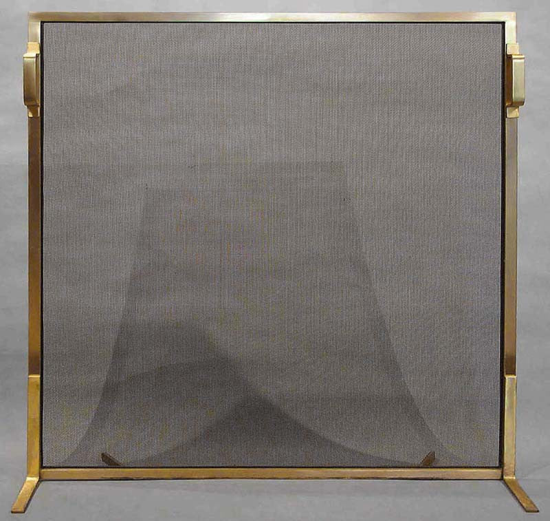 Brass Single Panel Screen