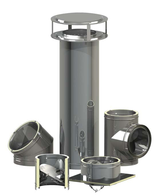 "Class A 18"" Metal Chimney for 60"" Rumfords"