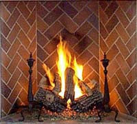Gas Logs - Natural Gas Andiron Classic
