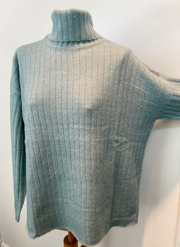 Shimmer Knit Turtleneck Sweater