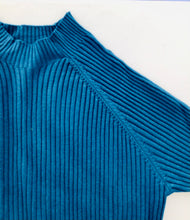 Load image into Gallery viewer, Teal Ribbed Knit Lounge Set
