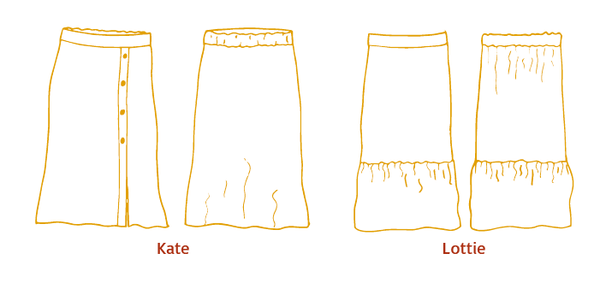 Lottie & Kate skirt - Paper pattern