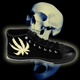 Men's RELAXED COLOR CANNABIS SKULL High-top Sneakers - Stoner Point