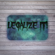 LEGALIZE IT! Bath Mat - Stoner Point