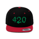 420 Flat Bill Hat (2 Colors) - Stoner Point