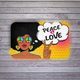 PEACE & LOVE Bath Mat - Stoner Point