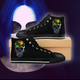 Men's COLOR CANNABIS SKULL High-top Sneakers - Stoner Point