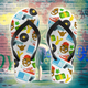 Unisex HIP-HOP Flip-Flops - Stoner Point