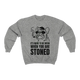 IT'S HARD TO BE MEAN Crewneck Sweatshirt - Stoner Point