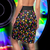 WEED & MUSHROOMS Pencil Skirt - BLACK waistband - Stoner Point