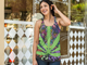 Relaxed Fit Psychedelic Cannabis Tank Top - Stoner Point