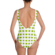 CANNABIS EMOJI One-Piece Swimsuit - WHITE - Stoner Point