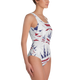 USA CANNABIS One-Piece Swimsuit - WHITE - Stoner Point