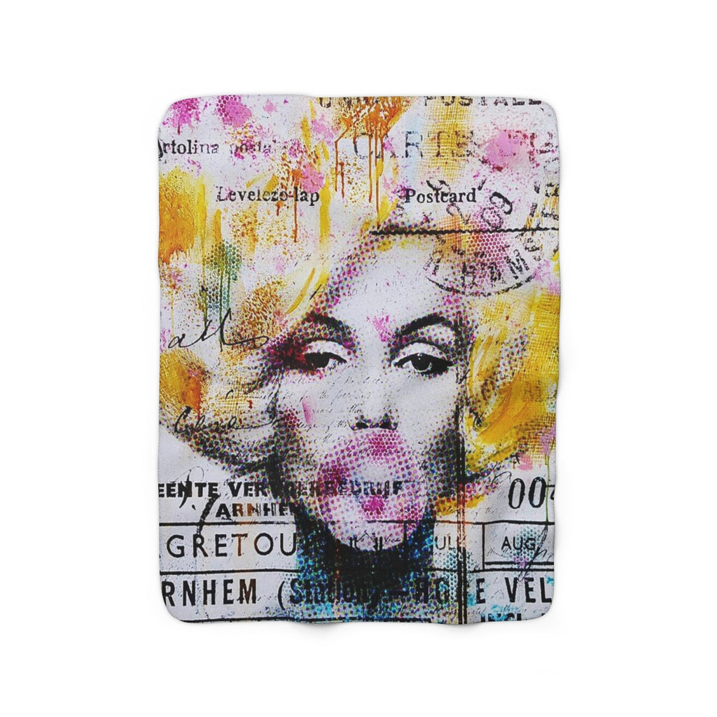 MARLYN BUBBLE GUM© Sherpa Fleece Blanket - STUDIO ART STREET