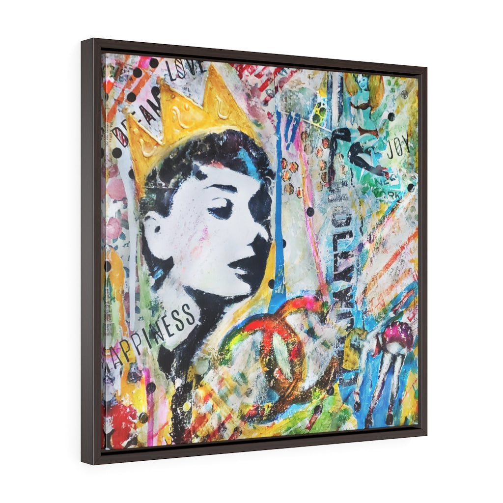 PARTY GIRL© Square Framed Premium Gallery Wrap Canvas