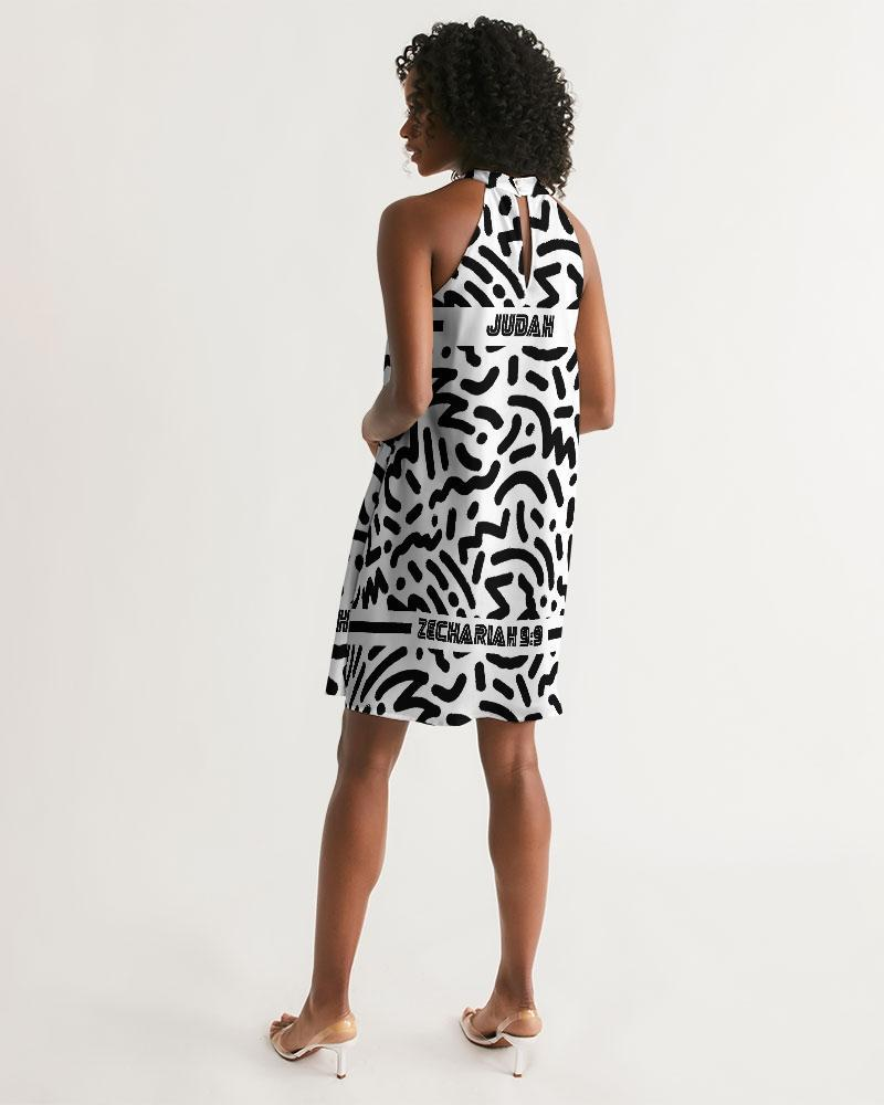 Rejoice Zion Halter Dress