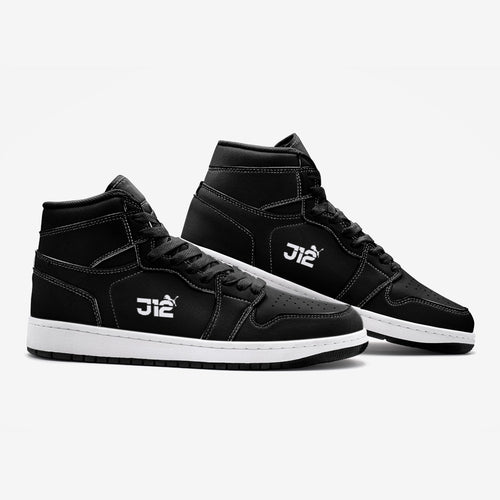 J12 Sports High Tops Sneakers (White Bottoms)