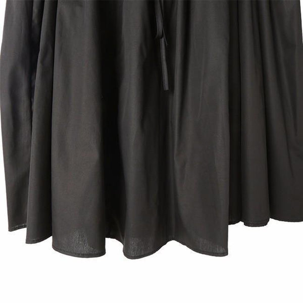 Baghy Tie Skirt Dress - Black