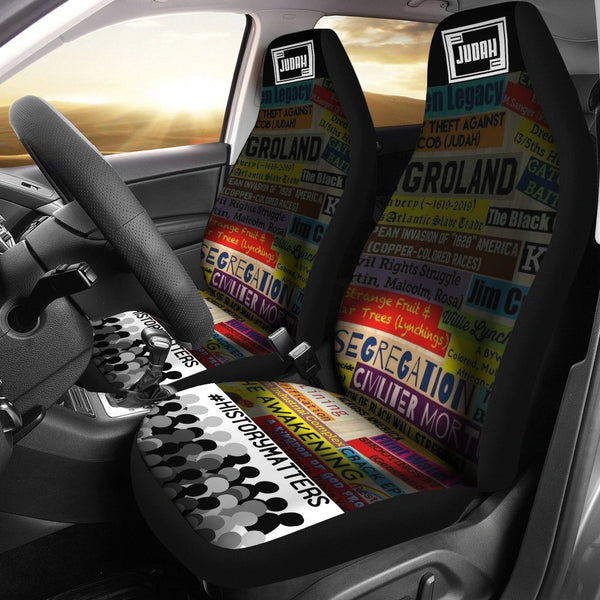 JF Black History Car Seat Covers