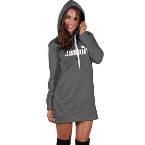 Judah Hooded Dress (Grey)