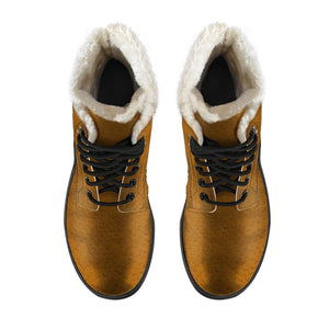 JF Leather Fur Winter Boots